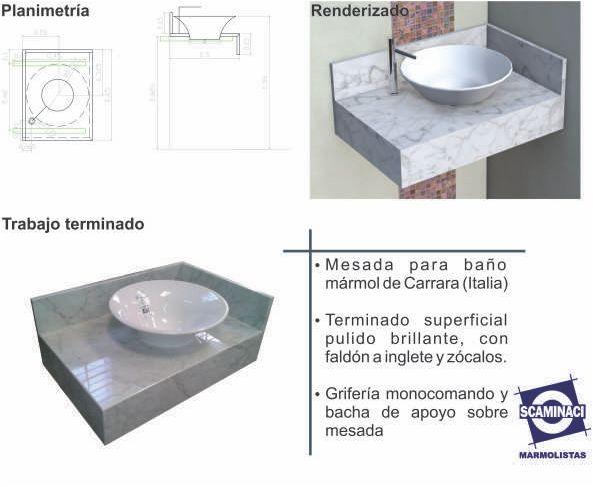 Scaminaci marmolistas blog archive mesada para ba o for Mesada de marmol de carrara para cocina