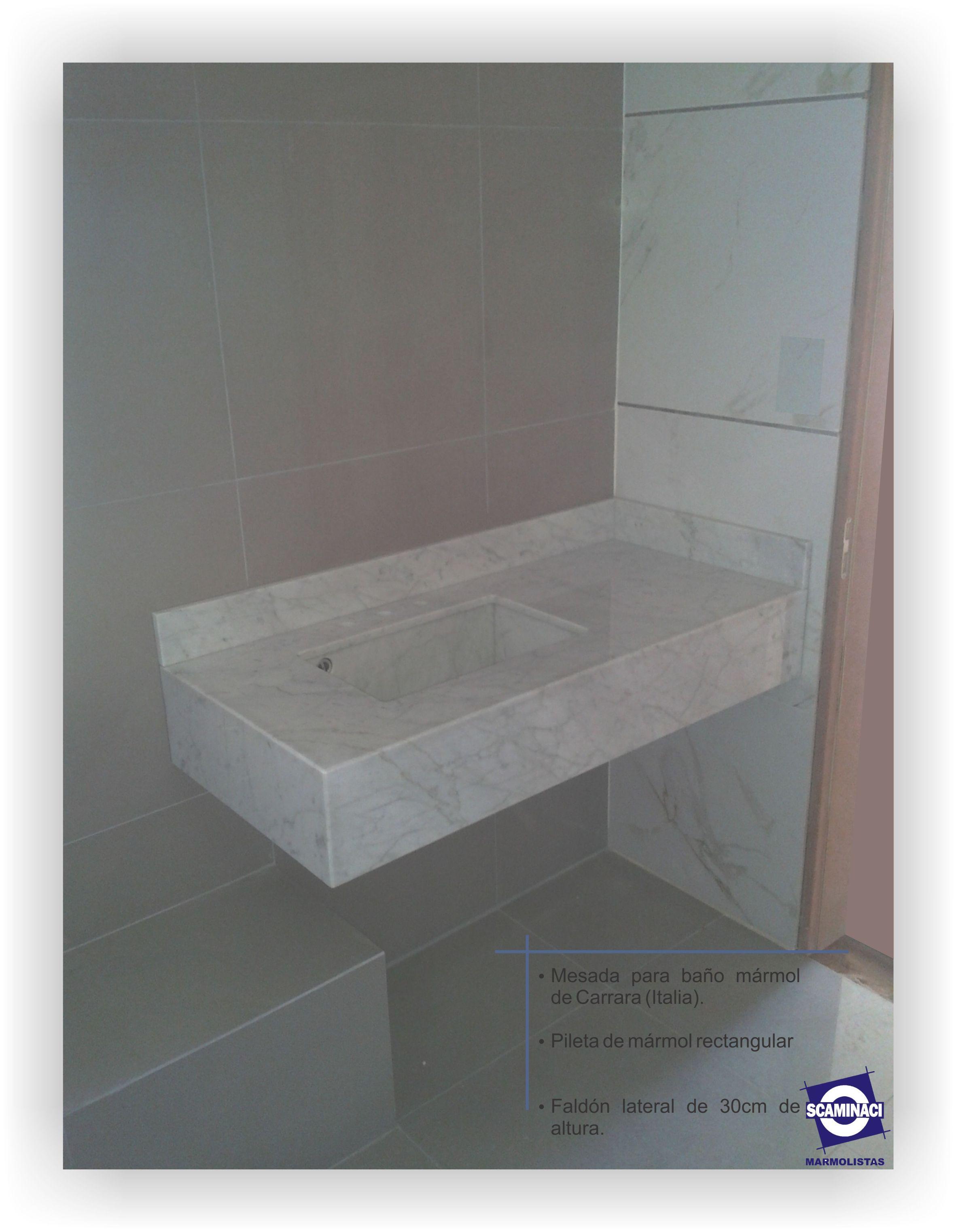 Scaminaci marmolistas blog archive mesada para ba o en for Marmol de carrara limpieza