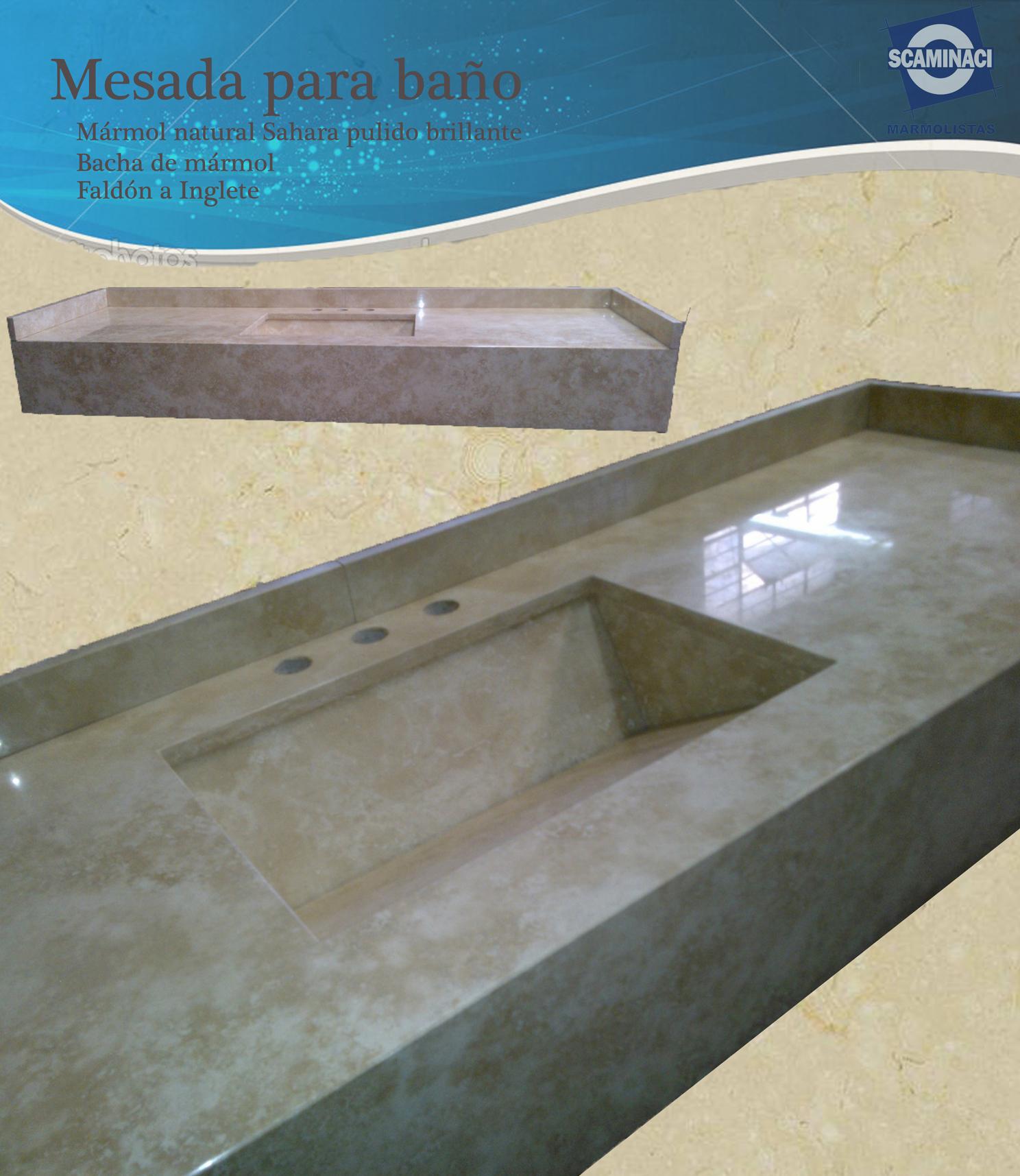 Bachas Para Baño Santa Fe:Publicado el 1 de septiembre de 2015 Mesada de baño mármol de Sahara